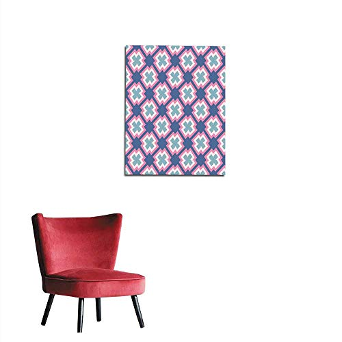 longbuyer Wall Picture Decoration Seamless Abstract Pattern from Rectangle Intersections Mural 32