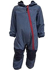Outburst - Baby barn Softshell overall snödräkt fodrad vattentät 10 000 mm hydrostatiskt huvud andningsbar vindtät blå mel. 3714254.