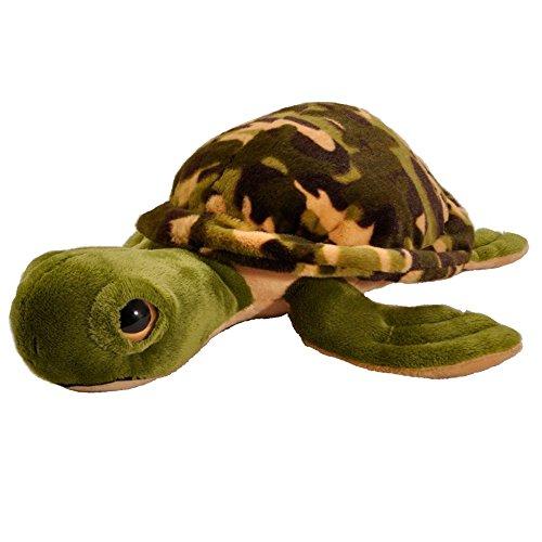 Camo Turtle 14 inch - Stuffed Animal by The Petting Zoo (...