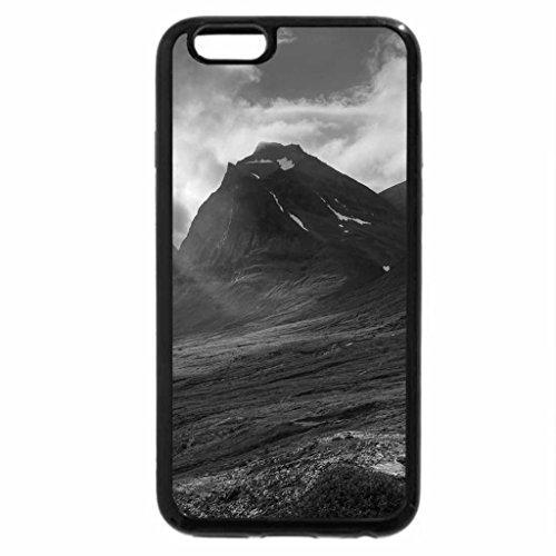 iPhone 6S Plus Case, iPhone 6 Plus Case (Black & White) - sunbeams through low mountain clouds