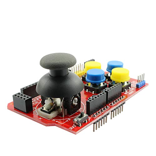 (Magic&shell 1PC Gamepad Joystick Shield Expansion Board Analog Keyboard for Arduino)