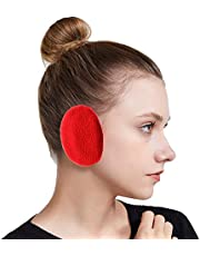 SoulQ Unisex Ear-bags Bandless Ear Warmers,Autumn Winter Outdoor Fleece Earmuffs with Thinsulate