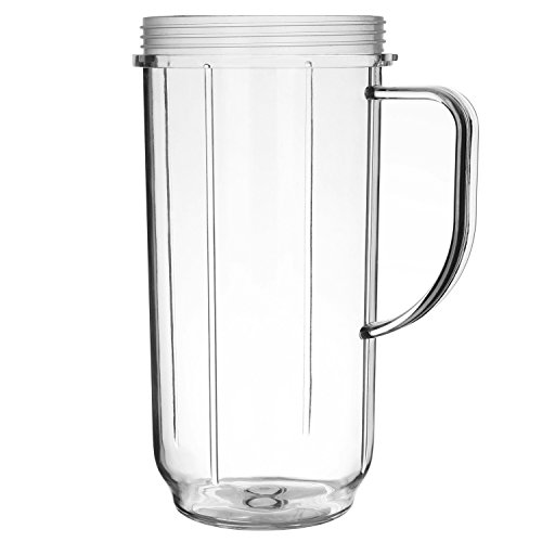 Yesurprise Tall 22oz Replacement Part Cup Mug with handle for 250w Magic Bullet Blender Juicer Mixer