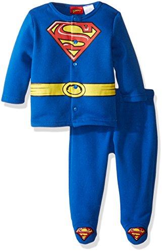Warner Brothers Baby Boys' Superman Fleece Jacket and Pant Set, Blue, 0-3 (Joker Outfit For Kids)