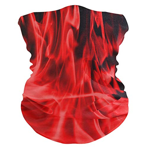 Red Flames Balaclava Womens Headband Scarf Mens Versatile Bandana, Muffler, Neck Gaiter, Magic, Hatliner Sweatband