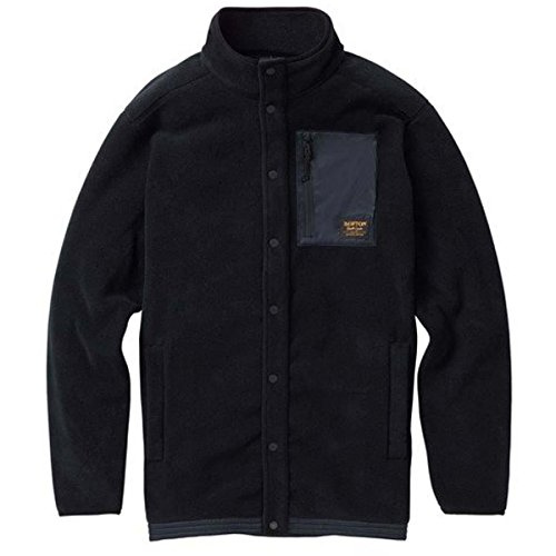 Burton Men's Hearth snap-Up Fleece, True Black, X-Large