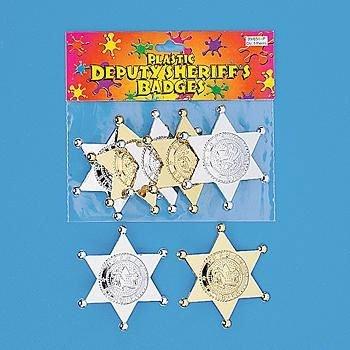 Plastic Deputy Sheriff Badges (12 ct) (12 per (Deputy Sheriff Badge)