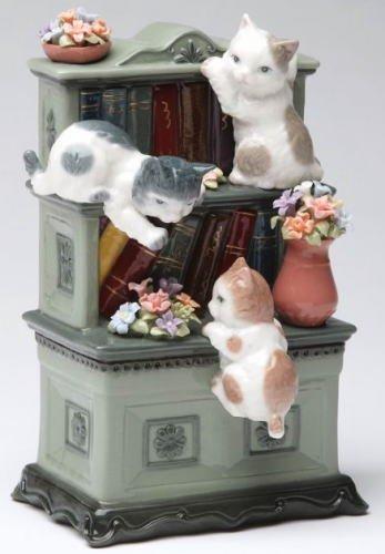 【気質アップ】 B01BKUJFWW オルゴール本棚で遊ぶ子猫達 オルゴール B01BKUJFWW, アメリカベビー子供服雑貨Bee8:0fa58f96 --- arcego.dominiotemporario.com