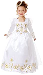 Cesar B454-003 - Disfraz infantil de reina (8-10 años), color blanco