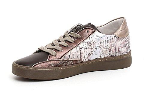 Sneaker Woman (yw102), Imprimé Rome, Couleur Brun-