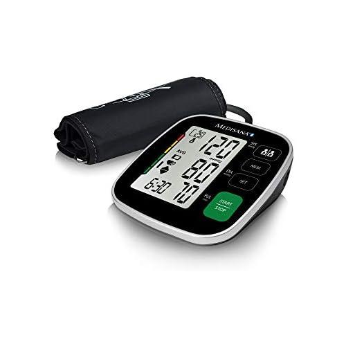 chollos oferta descuentos barato Medisana BU 546 connect Tensiómetro para el brazo con manguito grande pantalla de arritmia escala de colores de la OMS para una medición precisa de la tensión arterial y del pulso con app