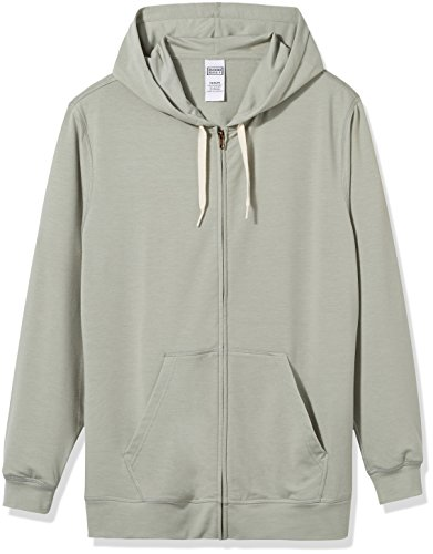 Good+Brief+Men%27s+Long+Sleeve+Lightweight+French+Terry+Zip-Up+Hoodie+Large+Wrought+Iron