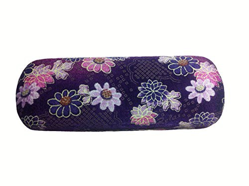 Purple Floral Print Hard Eyeglasses Case Container for Maximum Glasses Security-JOOJOO BEACH