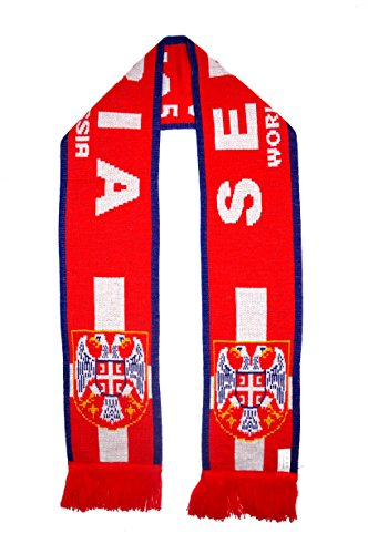WORLD CUP 2018 FANS FAVORITE SOCCER SCARVES (SERBIA - RED) (Serbia World Cup)