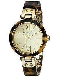 Anne Klein 10/9652CHTO Women's Plastic Bracelet Watch, Gold-Tone/Tortoise Shell
