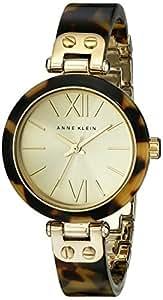 Anne Klein Women's 109652CHTO Gold-Tone Tortoise Shell Plastic Bracelet Watch