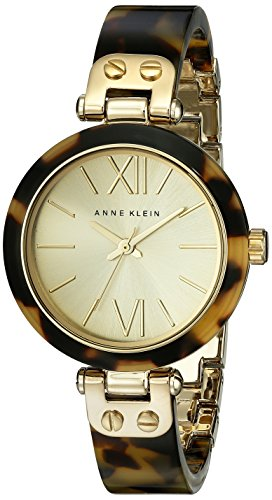 Anne klein women 39 s 109652chto gold tone tortoise shell plastic import it all for Anne klein gold watch
