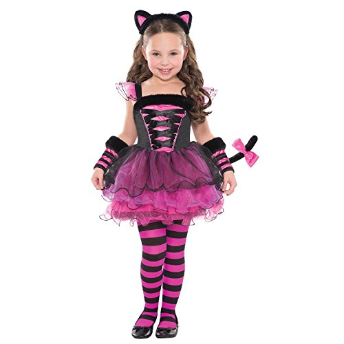 Cat Girl Fancy Dress Costume (Childs Girl's Purrfect Ballerina Cat Fancy Dress Party Halloween Costume( Years 3-4))