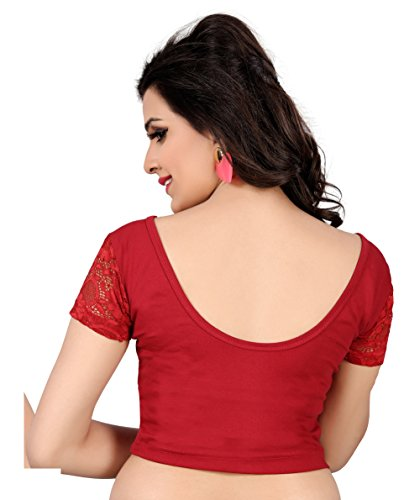 Vibes-Designer-Full-Stitched-Stretchable-free-size-Saree-Blouse-With-Net-Sleeves