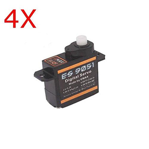 4X Emax ES9051 Digital Mini Servo For RC Model ;item#: GHU-75/LOP-J4544