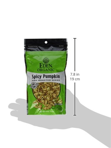 Eden Organic Dry Roasted Seeds, Spicy Pumpkin, 4-Ounce Resealable Bags (Pack of 15) by Eden (Image #5)