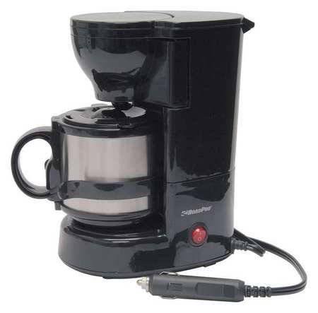 Roadpro RPSC-784 12-Volt Keen Cup Coffee Maker with 16 oz. Metal Carafe