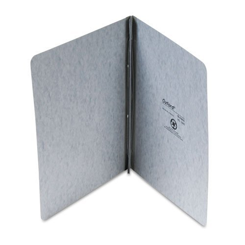 """Oxford 12905 Pressboard Report Cover 2 Prong Fastener Letter 3"""" Capacity Gray"""