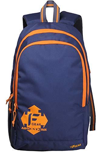 F Gear Castle NBO 22 Ltrs Orange Polyester Casual Laptop Backpack (2181)