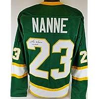 "$168 » Lou Nanne""US HOF"" Signed Minnesota North Stars Custom Jersey TSE COA - Autographed NHL Jerseys"