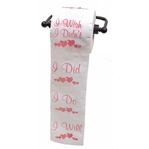 JustPaperRoses Bridal Shower or Bachelorette Party toilet paper gag gift by JustPaperRoses