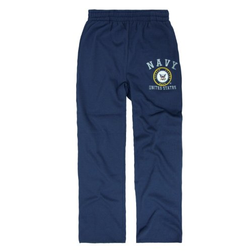 (Rapid Dominance Genuine US Navy Military Fleece Pants - Navy Blue - Large)