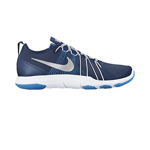 Nike Hommes Flex Train Aver Cross Trainer Côtier Bleu / Mtlc Argent / Bleu Clair