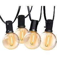 Guirnaldas luminosas de exterior, Bomcosy G40 Cadena de Luces 7.6m con 12+1 led Bombilla Guirnalda Luces IP45…