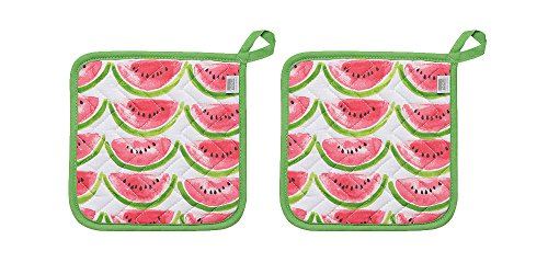 Now Designs Basic Potholders, Set of Two, Watermelon
