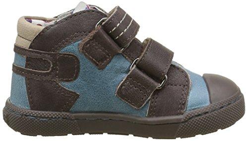 Mod8 Kinzo - Zapatos de primeros pasos Bebé-Niñas Azul - Bleu (Bleu Denim Marron)