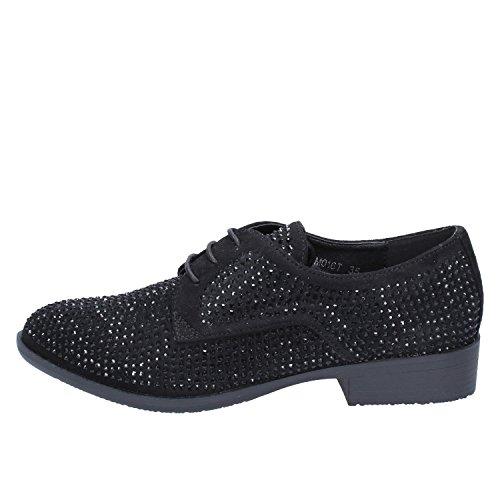 de Lacets Femme Francesco Ville Chaussures Noir pour Noir à Milano ppUCE