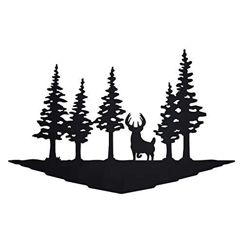 (Big Game Steel Buck Pines Deer Metal Sign Laser Cut Steel Wall Art Home Cabin Rustic Decor)