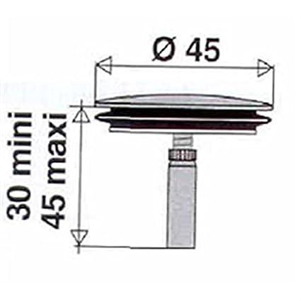 Clapet Inox Diametre Mm Pour Vidage De Baignoire A Cable Valentin