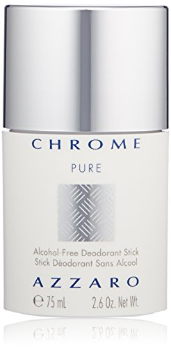 Azzaro Chrome Pure Alcohol-Free Deodorant Stick, 2.6 Oz ()