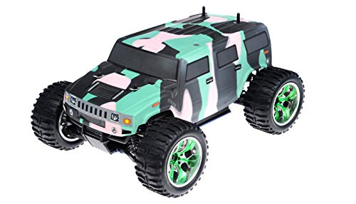 Exceed RC Monster Truck Radio 1/10 2.4Ghz Hammer Nitro Gas Powered RTR Off Road Monster 4WD Truck Camo Green RC Remote Control