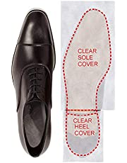 Crystal Clear Self-Stick Pads Sole Protector Shoe Bottoms Slip Resistant Removable Shoe Sole Cover Protector for Christian Louboutin, Jimmy Choo, Men's Dress Shoes