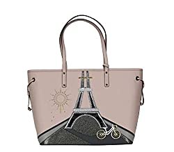 Eiffel Tower Drawstring Tote Bag