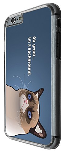 976 - Cool Fun Cat Face Oh Great I'm a Background Design For iphone 5C Fashion Trend CASE Back COVER Plastic&Thin Metal -Clear