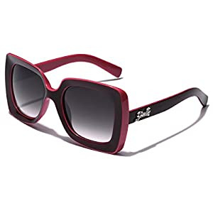 Giselle Square Frame Vintage Retro Womens Sunglasses