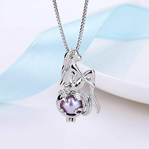 Pearl Cage Women Chain Pendant Necklace -