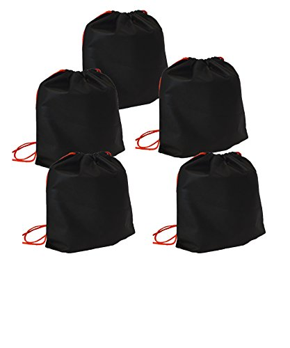 Reusable Bag bags| Non-Woven PP | Eco friendly| Conventional bags| Drawstring Bag 10Pack (Black)