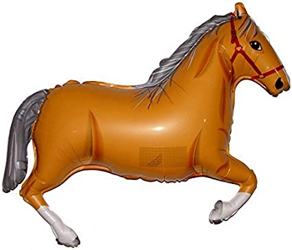 Brown Playful Horse Supershape Foil Balloon