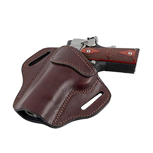 Left Handed 1911 - Relentless Tactical Ultimate Leather Holster 2 Slot OWB | Made in USA | Fits Most 1911 Style Handguns | Kimber - Colt - S & W - Sig Sauer - Remington - Ruger - Springfield & More