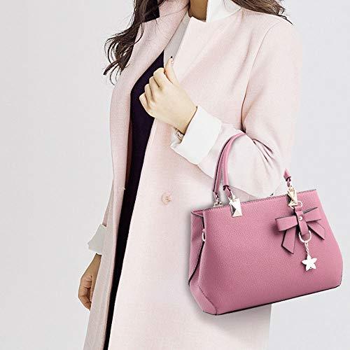 Con Bolso Mujer Grande Cremallera Diseño De Onemoret Bandolera Rosa Para Tamaño Lazo n4qWRRS1
