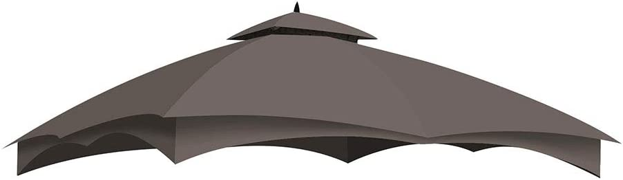 Yescom 2-Tier 12x10ft Outdoor Tent Top Replacement Patio Canopy Cover for Yard Lowe's Allen Roth Gazebo #GF-12S004B-1
